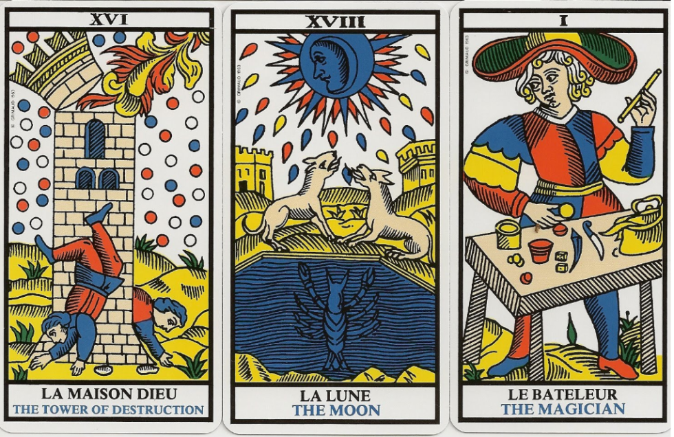 Tarot de Marseille, one of the most famous and first tarot decks. It probably appeared in northern Italy in the 15th century, though its name was coined later  it was coined at least as early as 1889 by the French occultist Papus (Gérard Encausse) in Chapter XI of his book le Tarot des bohémiens (Tarot of the Bohemians)