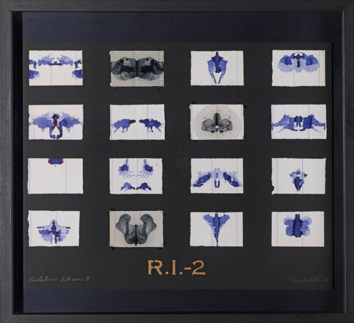 R.I.2: Révélations Intimes (2011): paper, ink, oil & pigment - 65 x 60 cm (Series of 4).