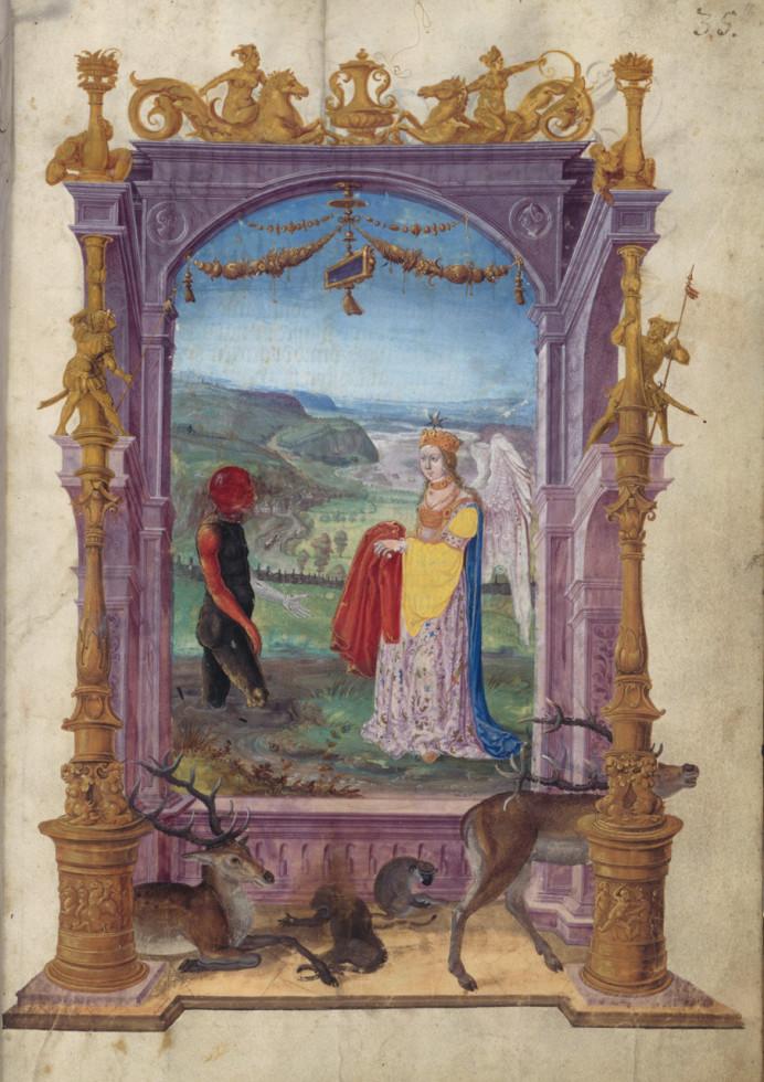 Jörg Breu, Splendor Solis oder Sonnenglanz (fol. 16: Sumpfmann und Engel), 1531/32