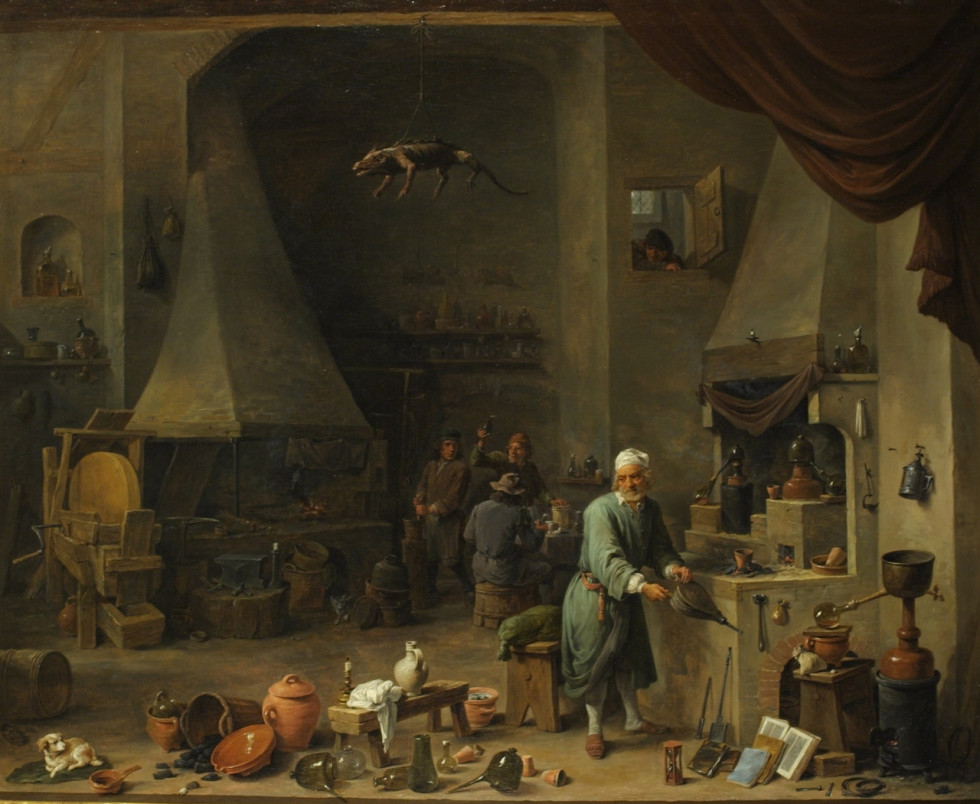 David Teniers d.J., Alchemist in his Workplace, ca. 1650