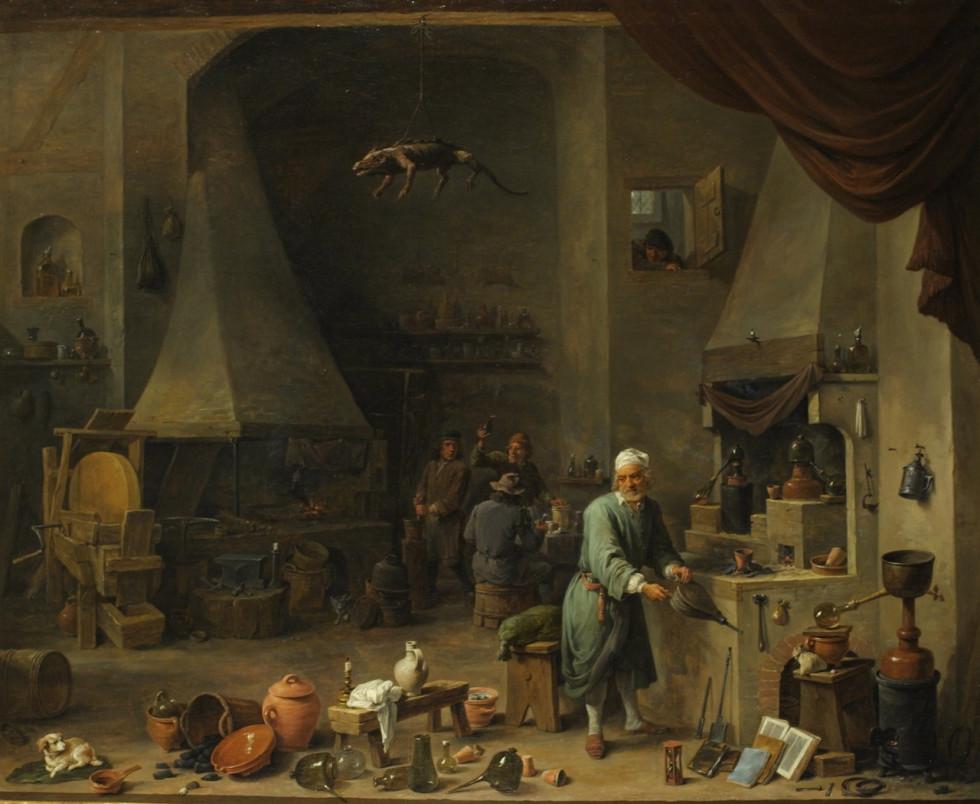 David Teniers d.J., Alchemist in his Workplace, ca. 1650