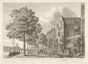 "The prison in Amsterdam (""Willige Rasphuys"") where Koerbagh died in October 1669."