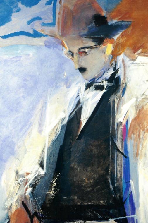 A standing portrait of Fernando Pessoa, artist unknown.