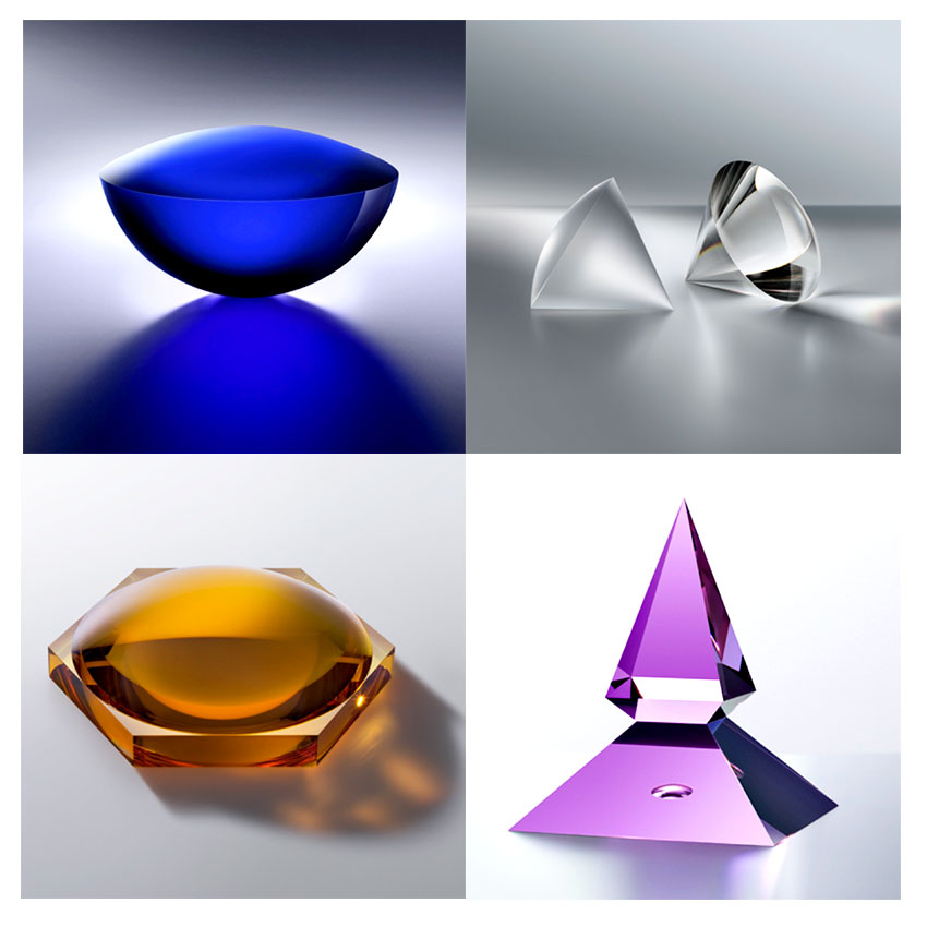Spaces of Silence by Winnie Teschmacher (2009/2010). Upper left: Akasha, upper right: Touching the Void, bottom left: Cycle of Time, bottom right: Purple Flame.