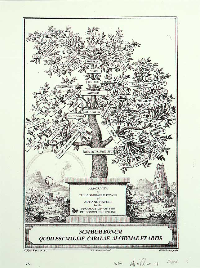 'Summum Bonum' tree of art and alchemy, by Williams and Dion.