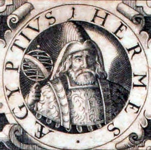 Michael Maier, Symbola Aurea, tp., detail, Hermes with astrolabium