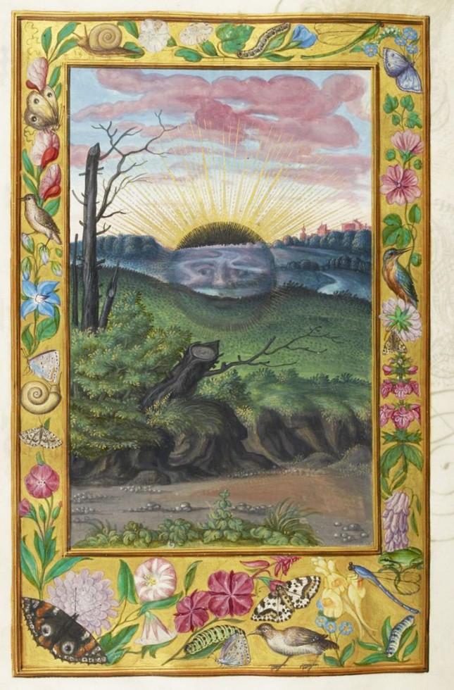 Black Sun (sol niger) from a manuscript of Splendor Solis, 1582