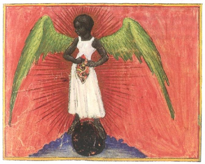 Black Angel from Aurora Consurgens, circa 1420