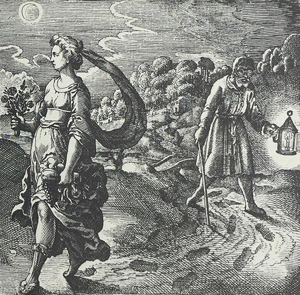 Emblem XLII, Michael Maier, Atalanta fugiens, 1618