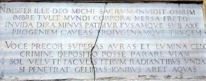 Illustration 8. The memorial tablet of S. Domenico Maggiore